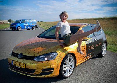 carwrap volkswagen golf plakt reclame dordrecht
